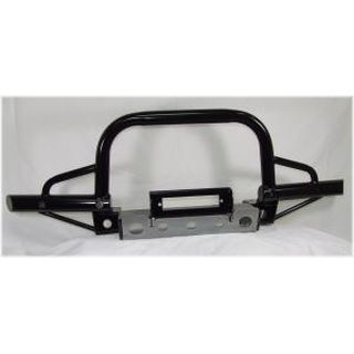 Defender Air-Con Extended Tubular Winch Bumper with A Bar with Swivel Recovery Eyes