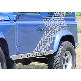 ROCK SLIDERS FOR DEFENDER 90 & 110 CLOUR BLACK OR SILVER